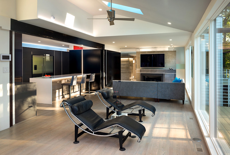 Cache House Modern Living Room by KUBE architecture Modern