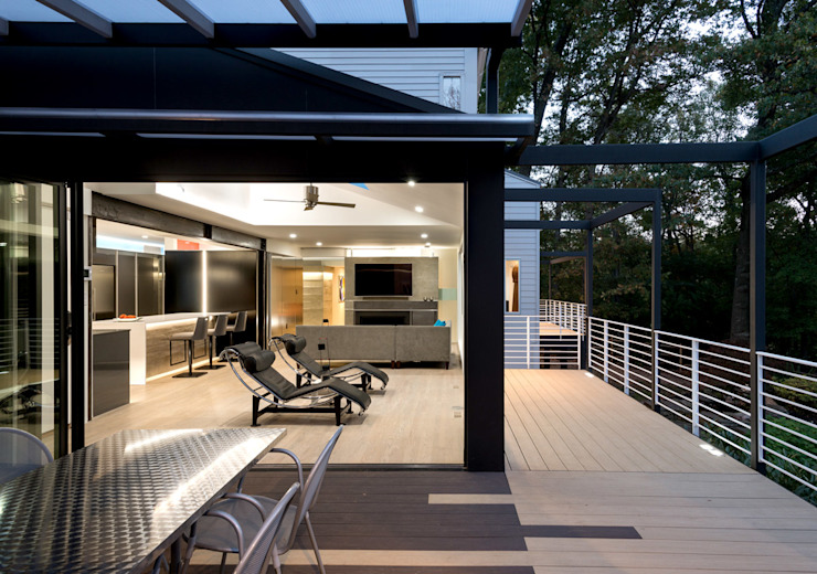 Cache House Modern Terrace by KUBE architecture Modern