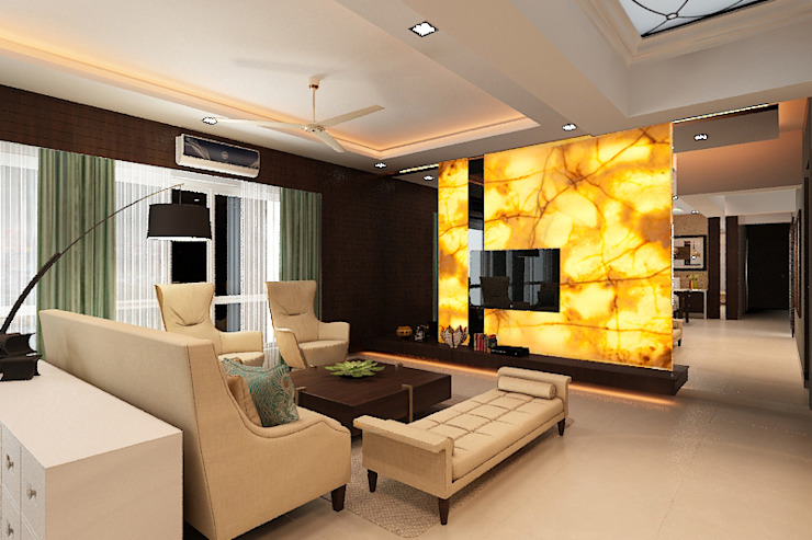 Entertainment wall Classic style living room by homify Classic Wood Wood effect