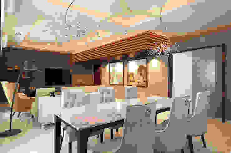 Dining area 根據 homify 古典風 合板