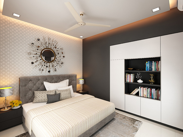 master bedroom homify Modern style bedroom Plywood Black