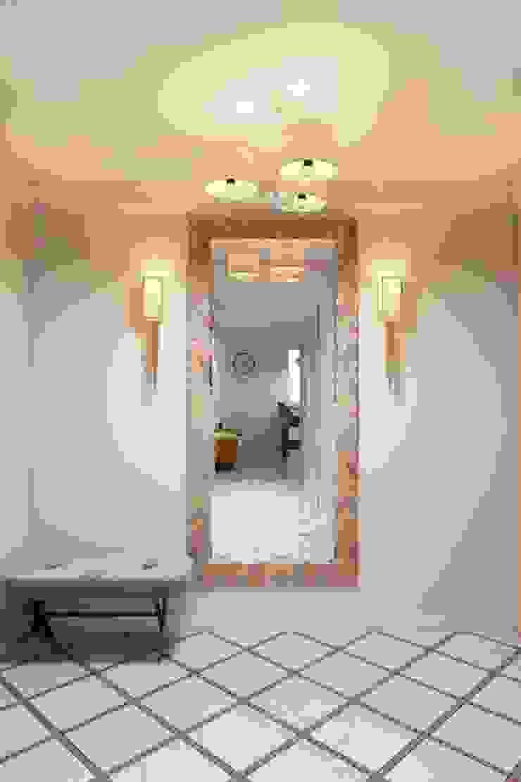 Couloir, entrée, escaliers scandinaves par Дизайн студия Алёны Чекалиной Scandinave