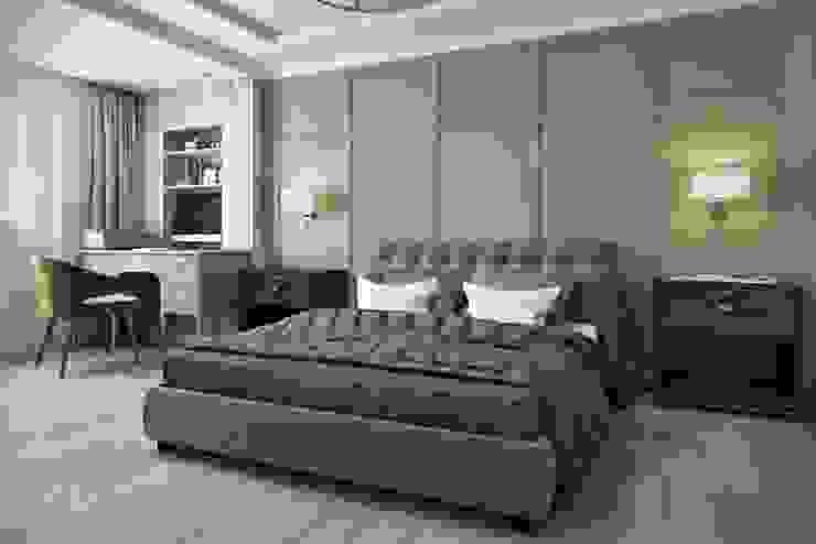غرفة نوم تنفيذ Дизайн студия Алёны Чекалиной,