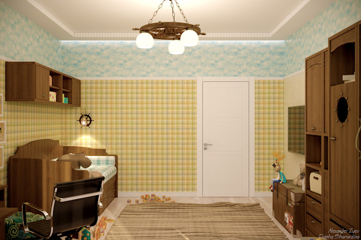 Mediterranean style nursery/kids room by Студия интерьерного дизайна happy.design Mediterranean