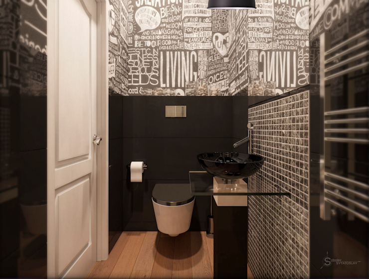 Bathroom Industrial style bathrooms by Anastasia Yakovleva design studio Industrial