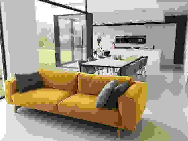 house VC-P Salones minimalistas de Niko Wauters architecten bvba Minimalista