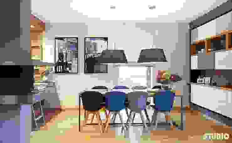 Modern Dining Room by MIKOŁAJSKAstudio Modern