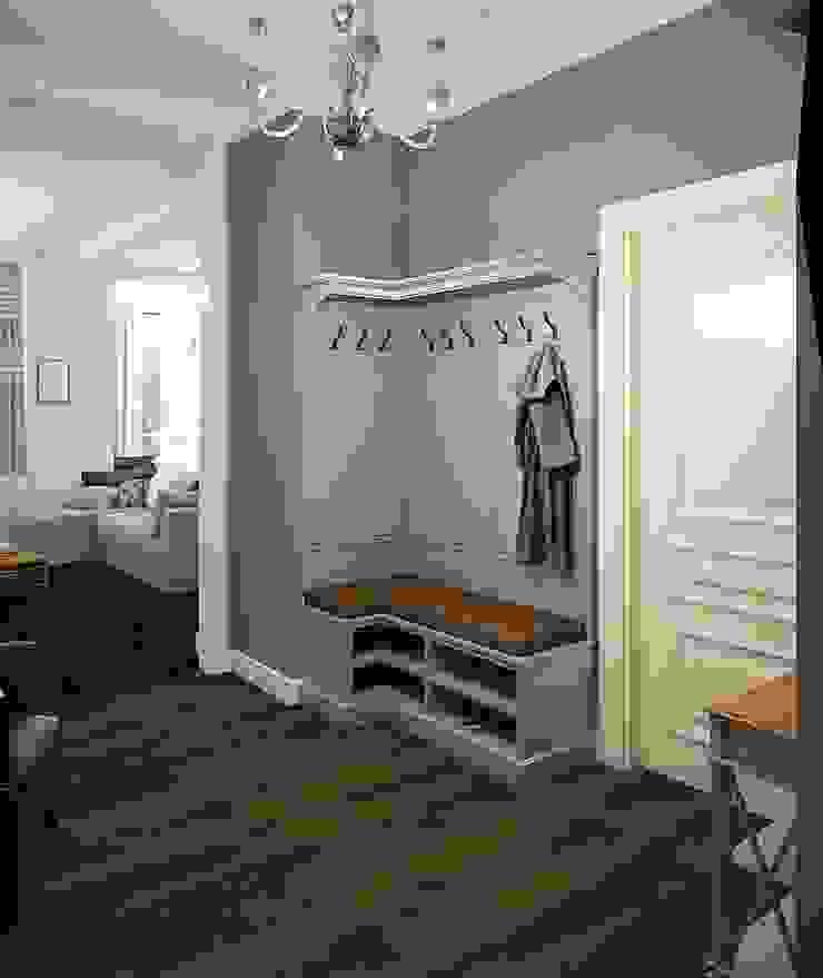 Вира-АртСтрой Scandinavian style corridor, hallway& stairs