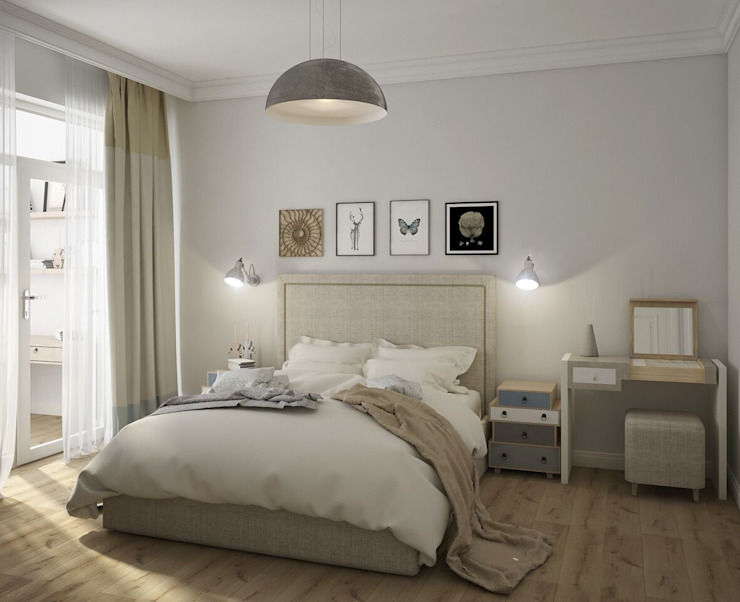 Вира-АртСтрой Scandinavian style bedroom