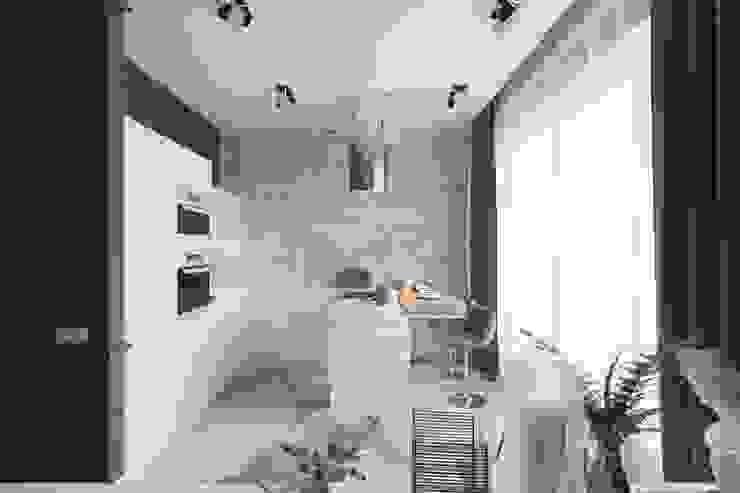 Дизайн проект студии в г.Ялта для молодой пары из Санкт-Питербурга Кухни в эклектичном стиле от blackcat design Эклектичный