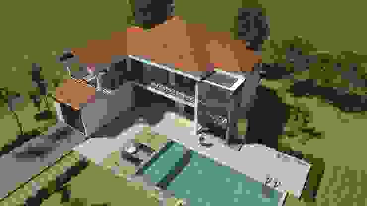 Perspectiva aérea general Casas de estilo clásico de Arquitecto Pablo Restrepo Clásico