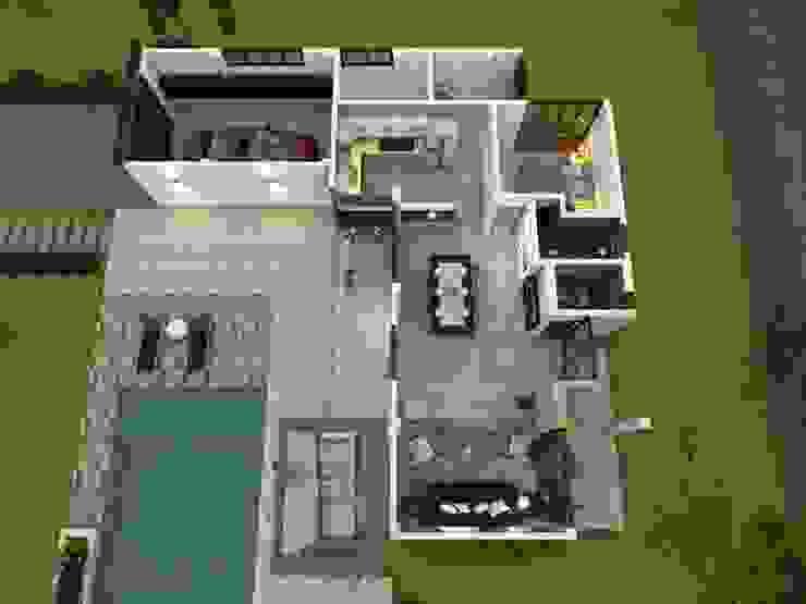 Vista aérea Casas de estilo clásico de Arquitecto Pablo Restrepo Clásico