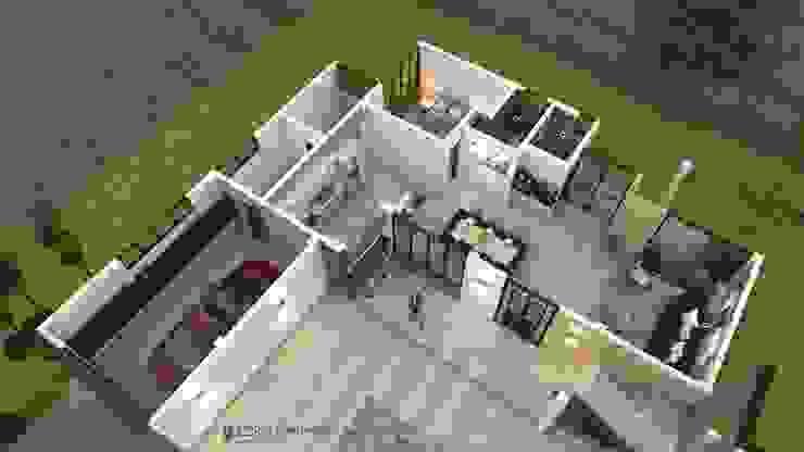 Vista aérea - distribucion interior Casas de estilo clásico de Arquitecto Pablo Restrepo Clásico