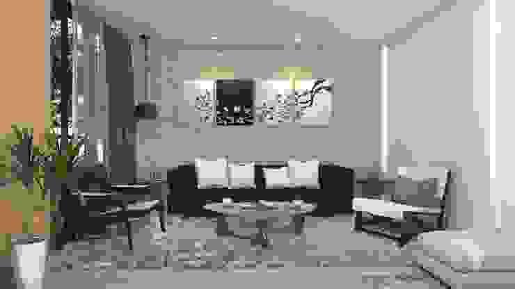 Diseño interior sala Salas de estilo clásico de Arquitecto Pablo Restrepo Clásico