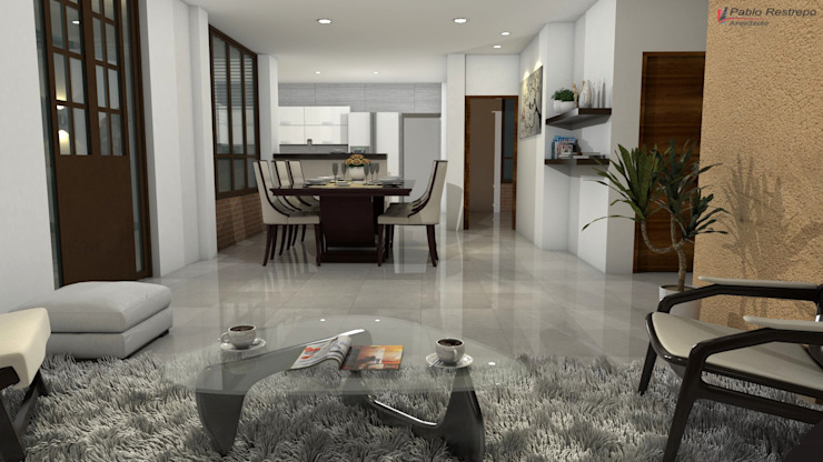 Diseño interior sala, comedor Salas de estilo clásico de Arquitecto Pablo Restrepo Clásico
