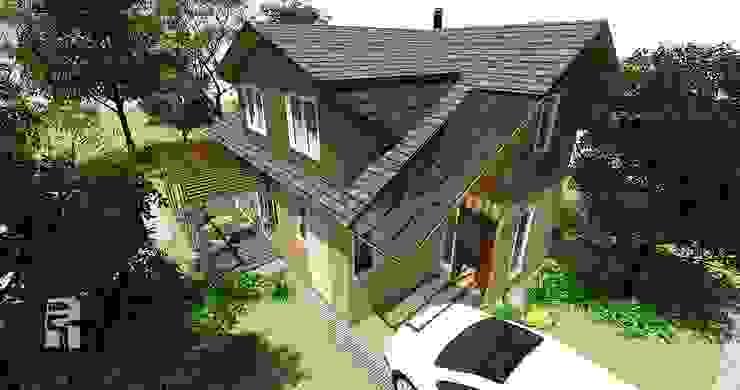Disposición hacia el patio Casas de estilo ecléctico de homify Ecléctico