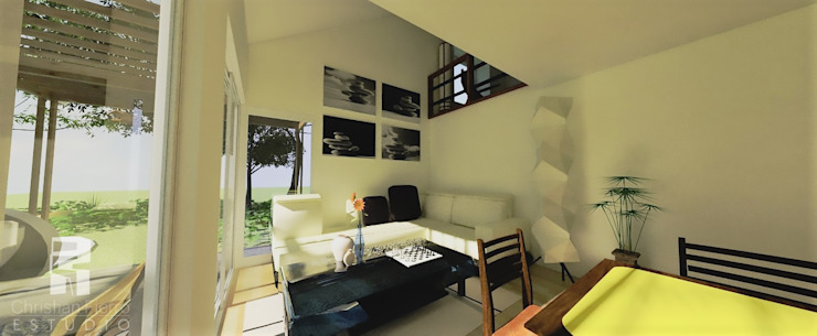 Doble altura: + luz, + aire Livings de estilo ecléctico de homify Ecléctico
