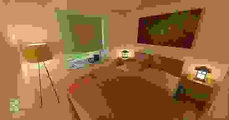 Dormitorio principal con bow window Dormitorios de estilo ecléctico de homify Ecléctico