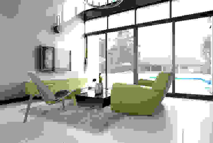บ้านพักอาศัย 2 ชั้น สไตล์โมเดิร์น ห้องโถงทางเดินและบันไดสมัยใหม่ โดย LEVEL ARCHITECT โมเดิร์น