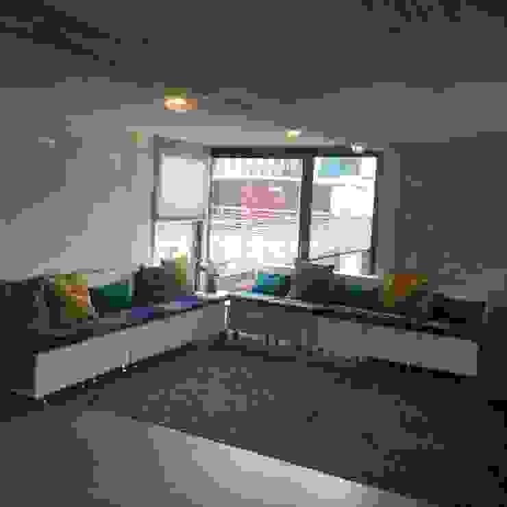 Innovation Lab element sofa Industriële kantoorgebouwen van Studio Mind Industrieel Hout Hout