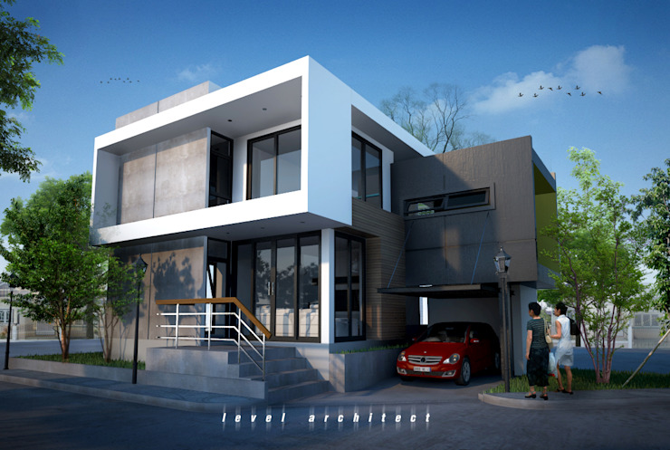 Houses by LEVEL ARCHITECT, Modern