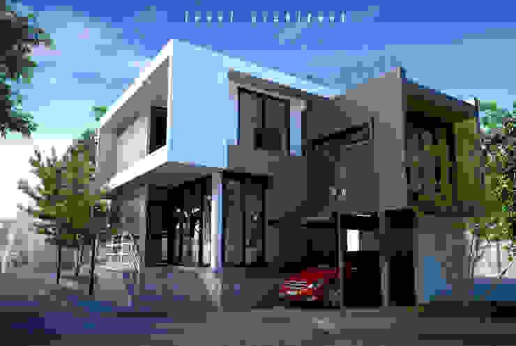 บ้านพักอาศัย 2 ชั้น ตลิ่งชัน โดย LEVEL ARCHITECT โมเดิร์น