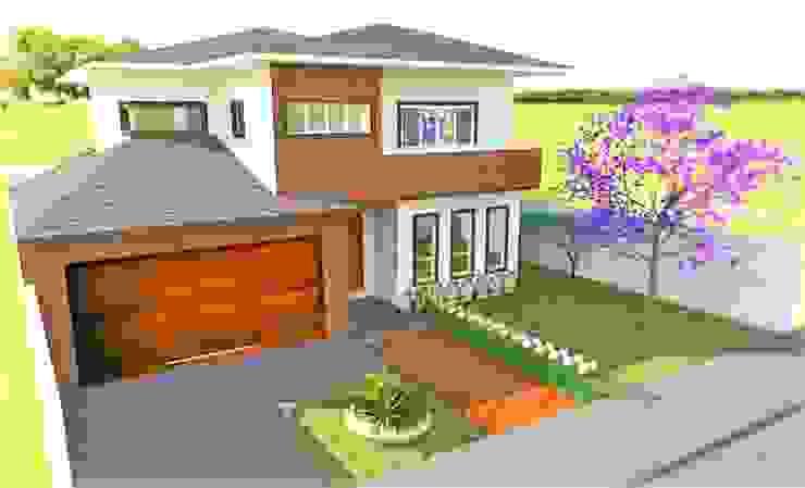 Casas de estilo clásico de Gabriela Sgarbossa - Estúdio de Arquitetura Clásico Derivados de madera Transparente