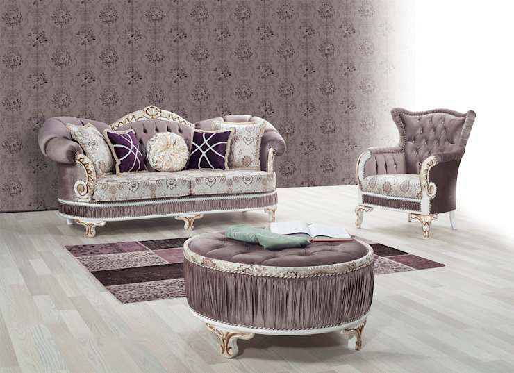 Salones de estilo  de SADRİ ŞEN LUXURY FURNITURE,