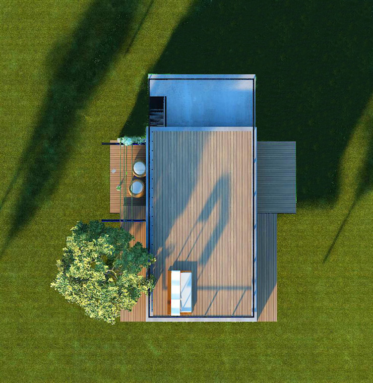 บ้านธรรมชาติโอบกอด โดย LEVEL ARCHITECT ผสมผสาน