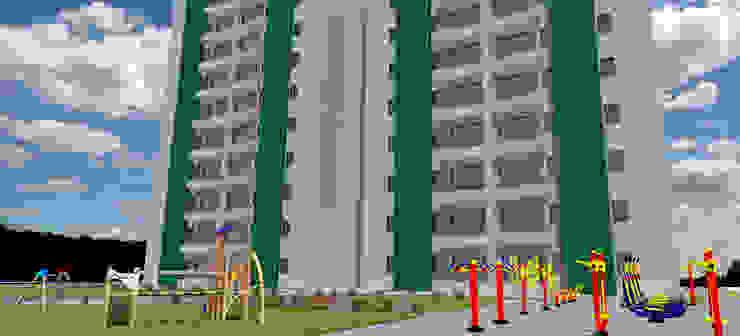 Propuesta Proyecto - Areas Comunes Casas de estilo clásico de Atahualpa 3D Clásico Concreto