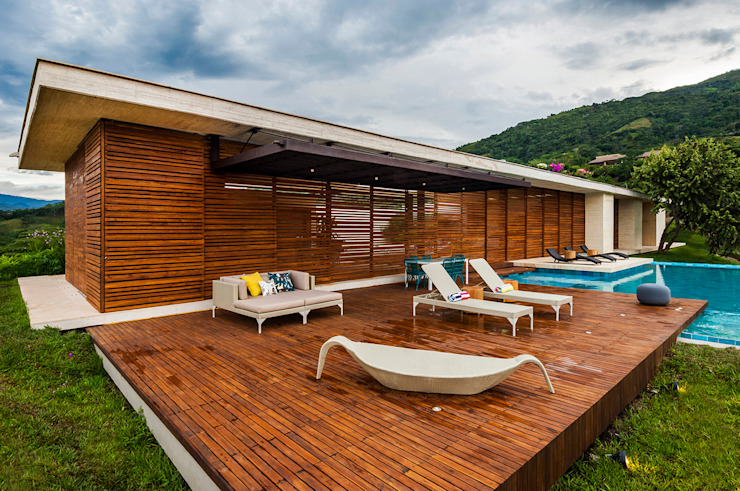 Houses by Arquitectura en Estudio, Modern Wood Wood effect