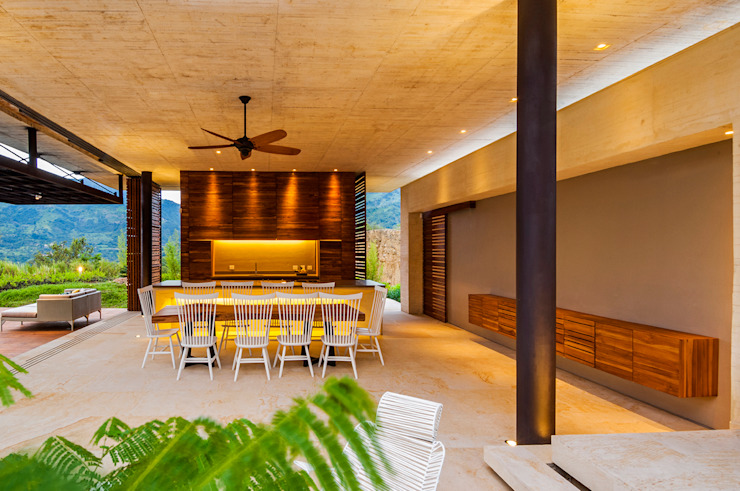 Modern dining room by Arquitectura en Estudio Modern Concrete