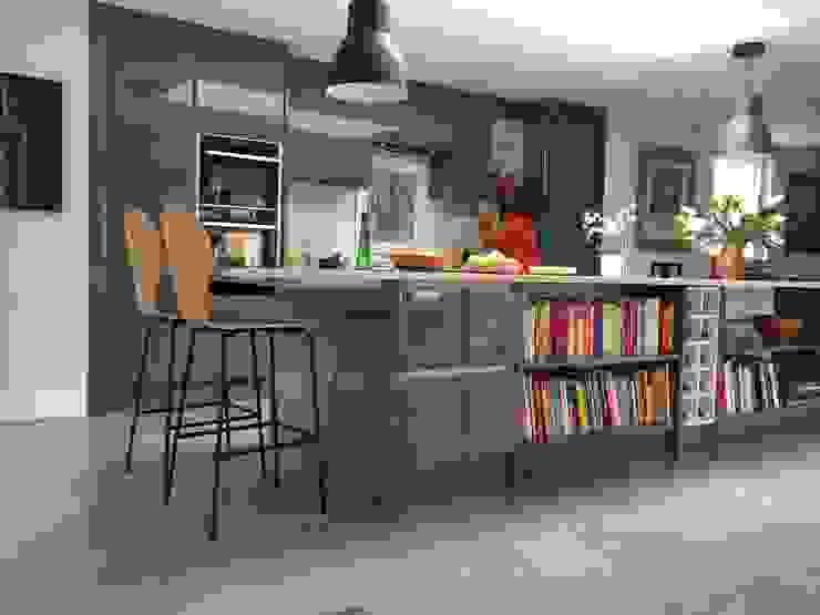 Kitchen extension Cocinas de estilo minimalista de O2i Design Consultants Minimalista Concreto