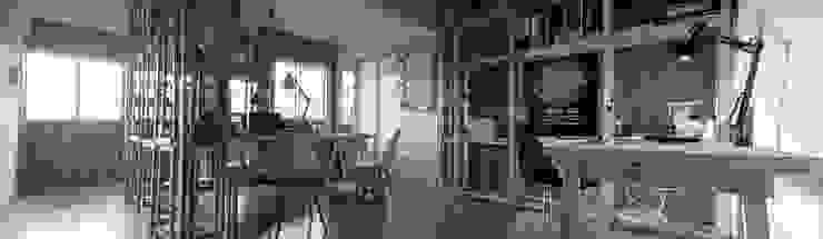 Area de Trabajo_Oficinas Taller Independiente Arquitectura & Construccion Oficinas y bibliotecas de estilo moderno de Taller Independiente - Arquitectura & Diseño Moderno Madera Acabado en madera