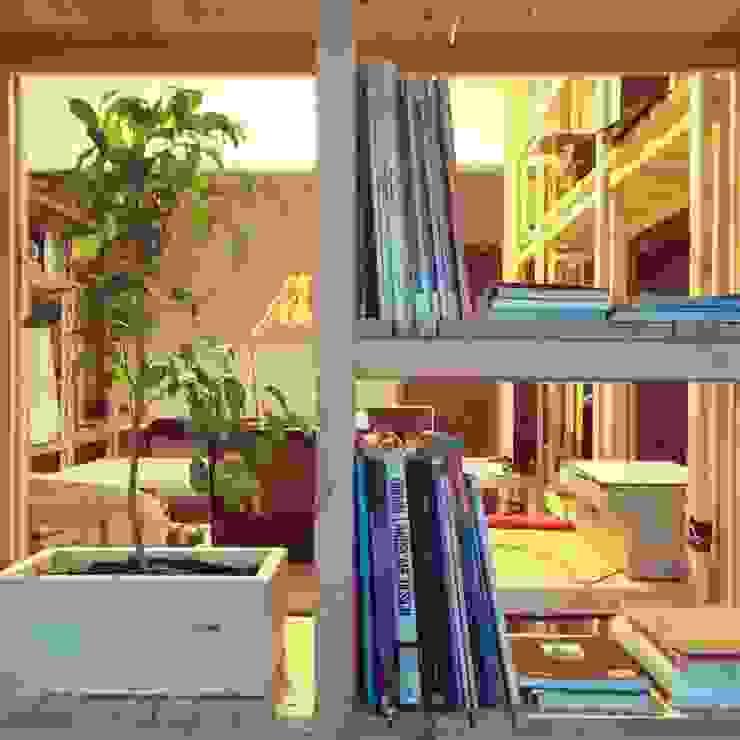 Biblioteca_Oficinas Taller Independiente Arquitectura & Construccion Oficinas y bibliotecas de estilo moderno de Taller Independiente - Arquitectura & Diseño Moderno Madera Acabado en madera