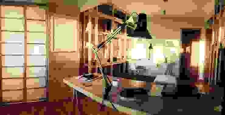 Modulo de trabajo_Oficinas Taller Independiente Arquitectura & Construccion Oficinas y bibliotecas de estilo moderno de Taller Independiente - Arquitectura & Diseño Moderno Madera Acabado en madera