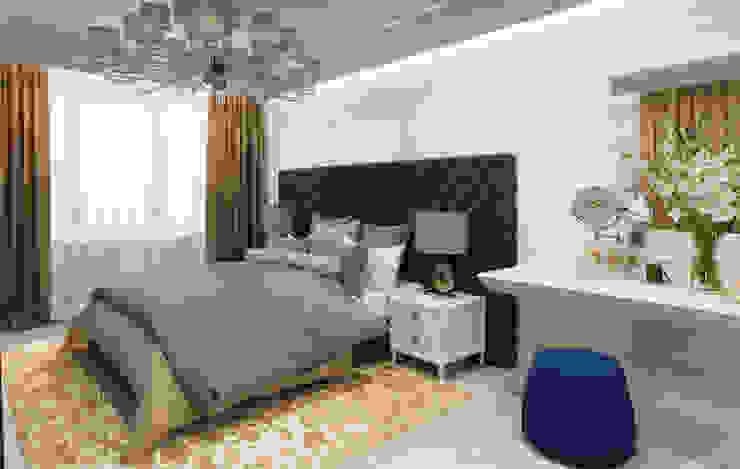 Bedroom by Студия дизайна интерьера в Москве 'Юдин и Новиков',