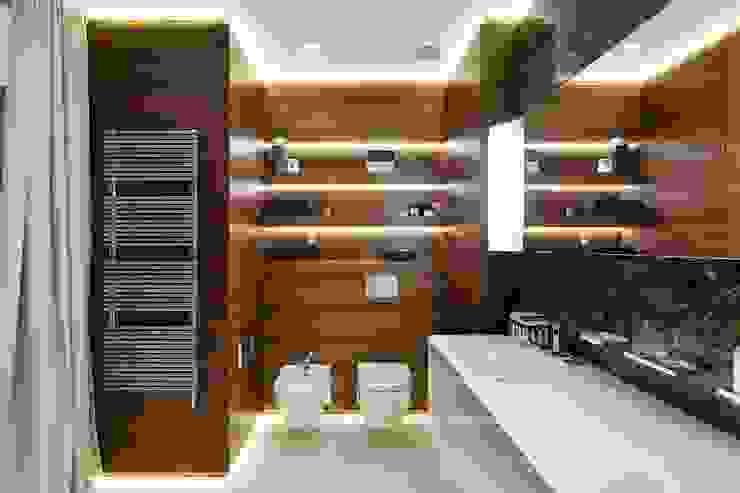Moderne Badezimmer von Студия дизайна интерьера в Москве 'Юдин и Новиков' Modern