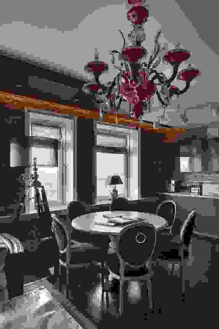 Студия дизайна интерьера в Москве 'Юдин и Новиков' Ruang Makan Modern
