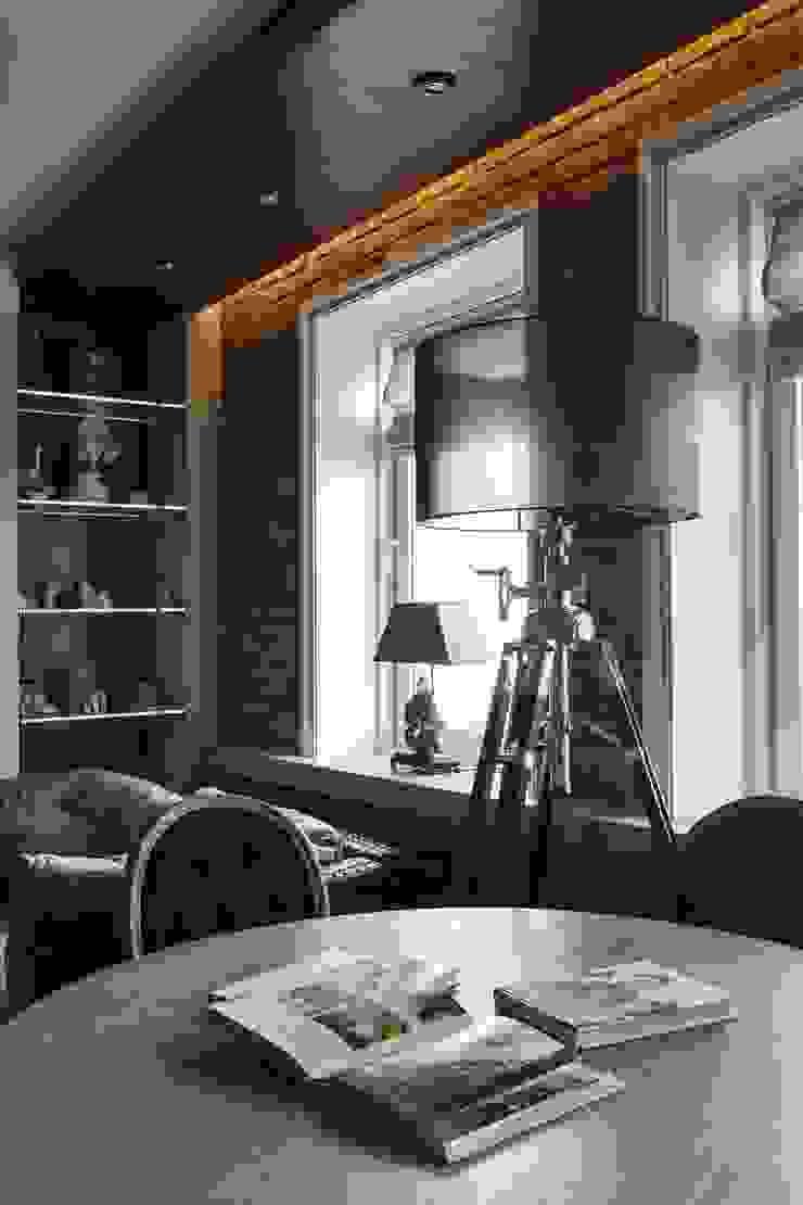 Студия дизайна интерьера в Москве 'Юдин и Новиков' Ruang Keluarga Modern