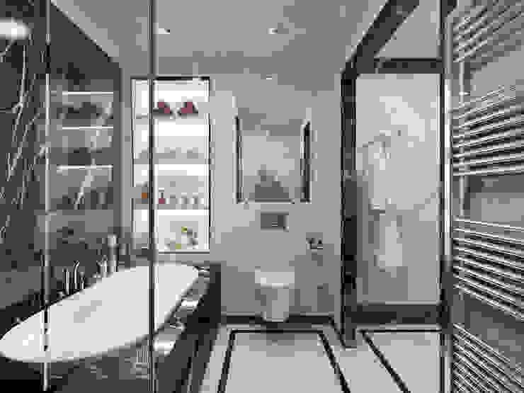 Salle de bain moderne par Студия дизайна интерьера в Москве 'Юдин и Новиков' Moderne
