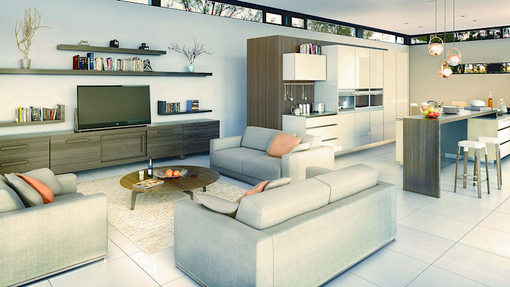Living room by REIS, Modern