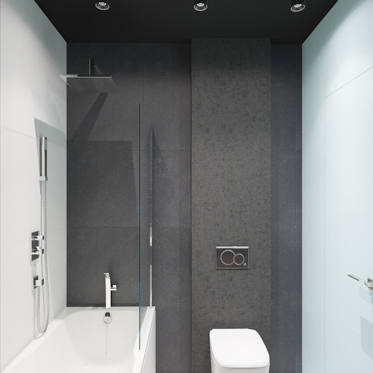 Minimalist style bathrooms by ДОМ СОЛНЦА Minimalist