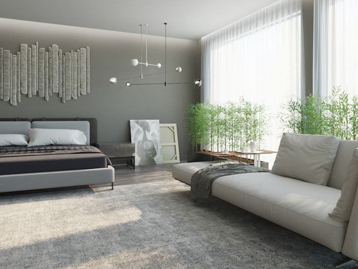 Minimalist bedroom by ДОМ СОЛНЦА Minimalist