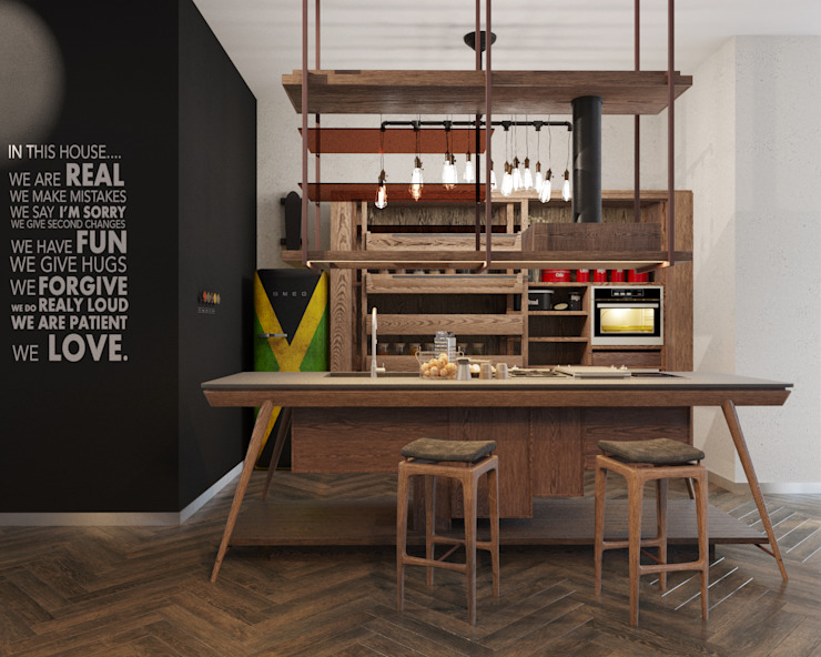 Industrial style kitchen by ДОМ СОЛНЦА Industrial