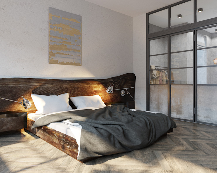 Industrial style bedroom by ДОМ СОЛНЦА Industrial