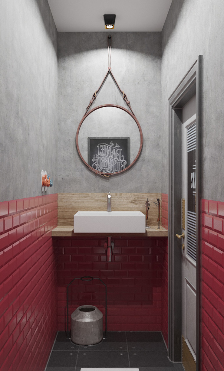 Industrial style bathroom by ДОМ СОЛНЦА Industrial