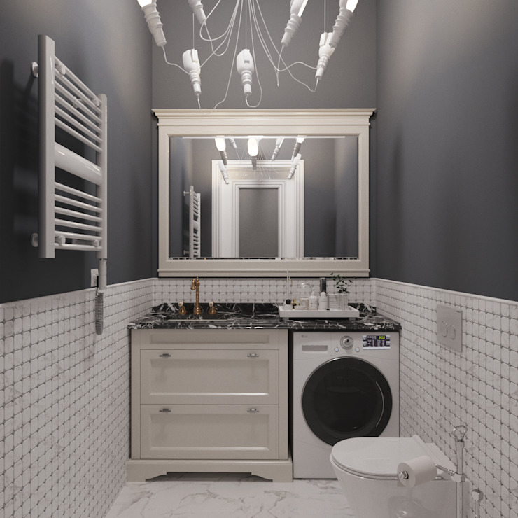 Classic style bathroom by ДОМ СОЛНЦА Classic