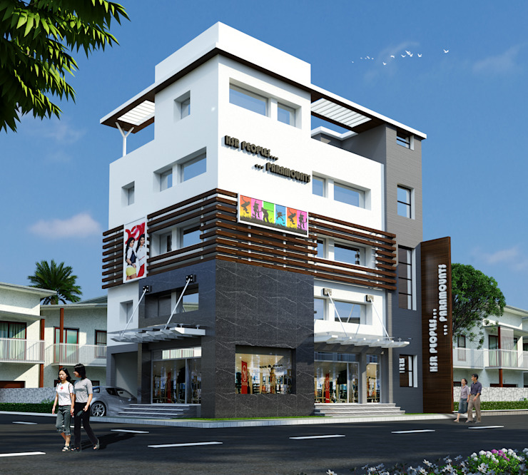 People's Paramount Modern houses by HSR Venutures Modern