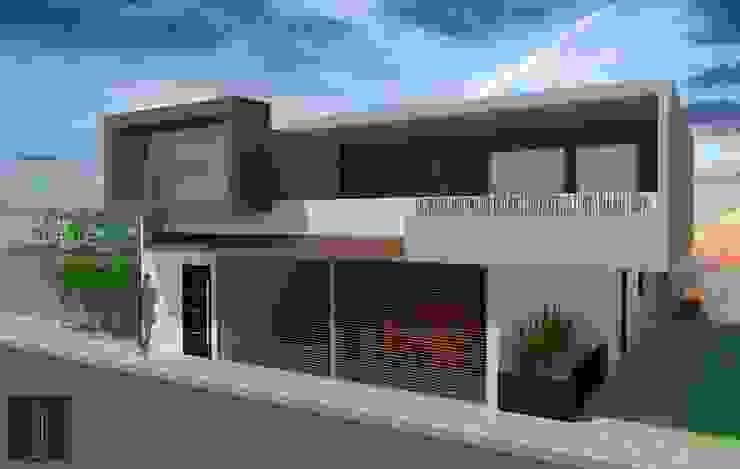 Fachada principal Casas modernas de ..arquitecturería taller.. Moderno